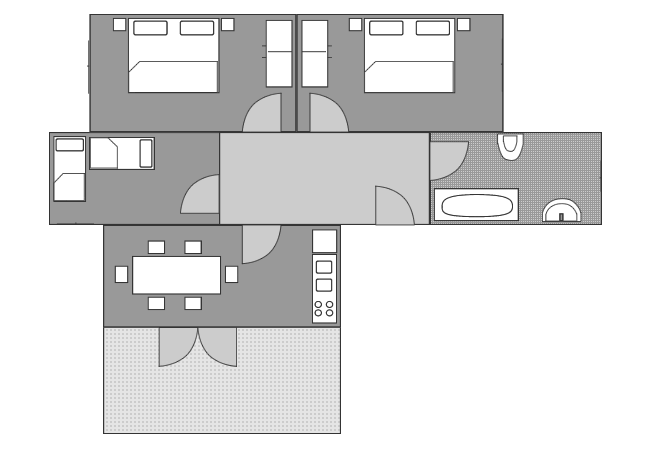 Ground-plan of the apartment - 3 - Typ/6