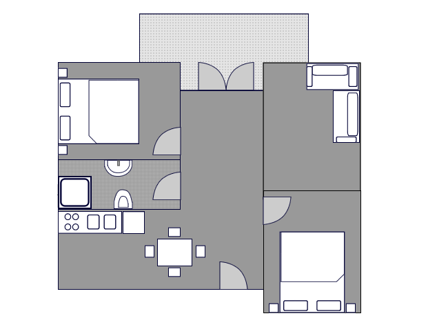 Ground-plan of the apartment - 8 - Typ/4